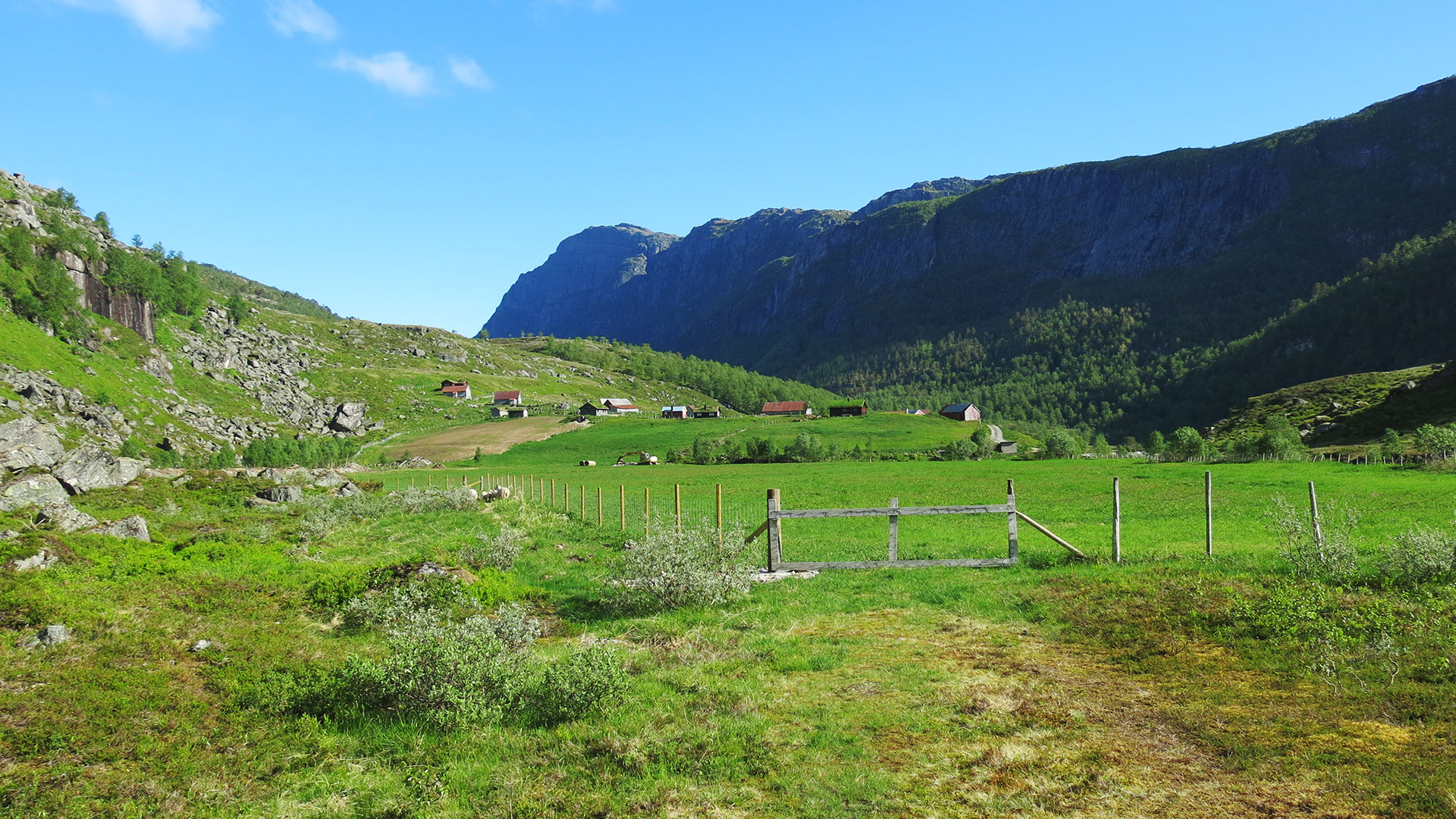 Mountain farming.