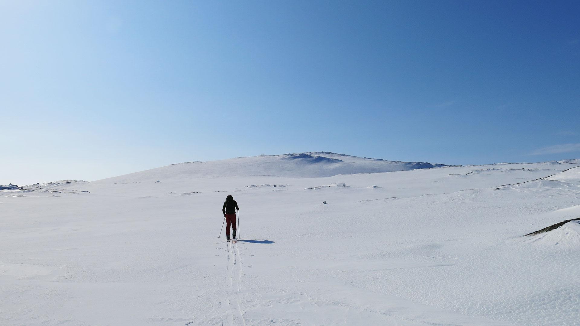 Person på skitur