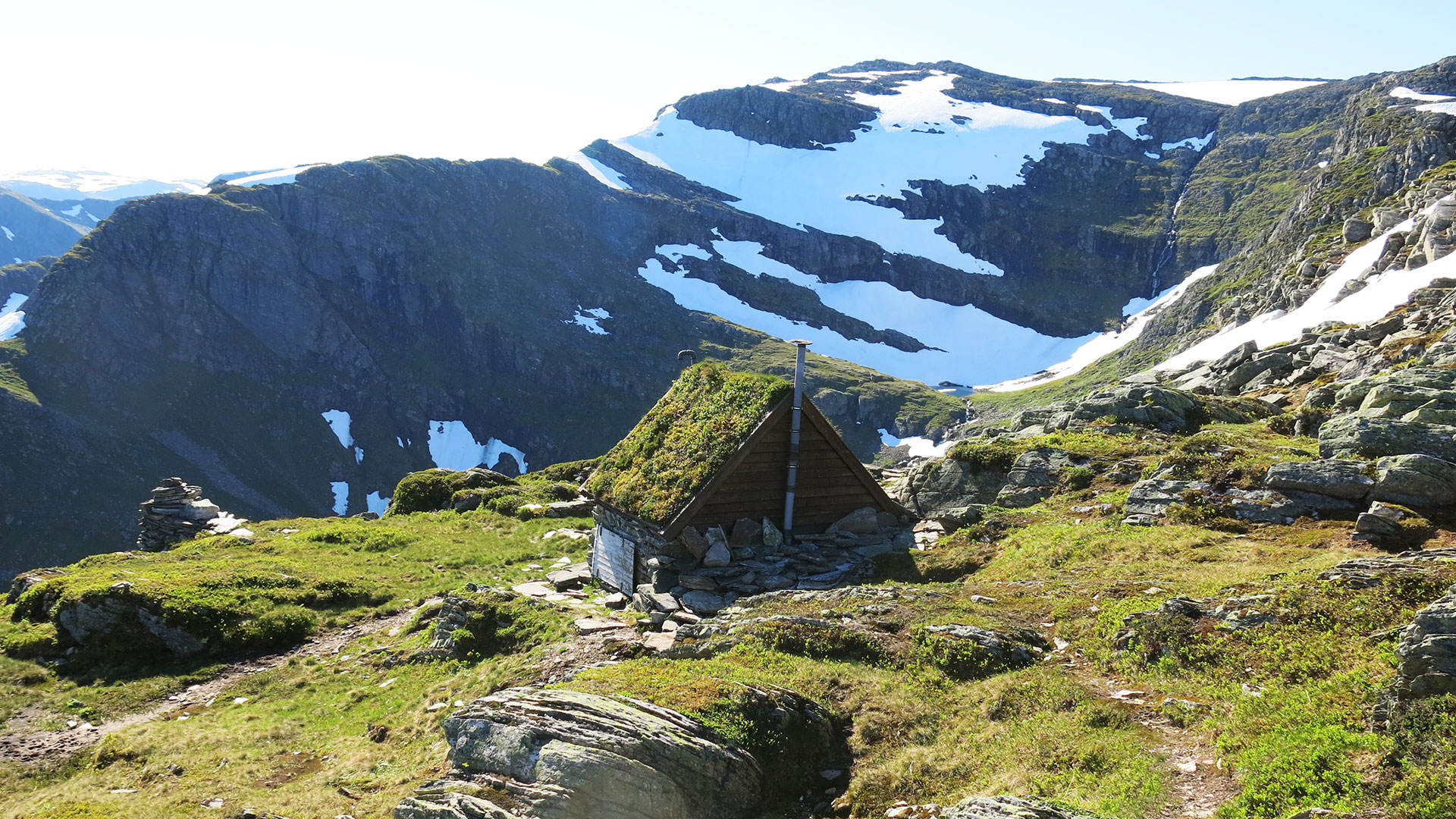 Hytte i fjellet.